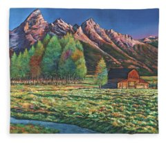 Wyoming Fleece Blanket