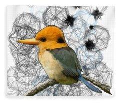 Y Is For Yellow Billed Kingfisher Fleece Blanket
