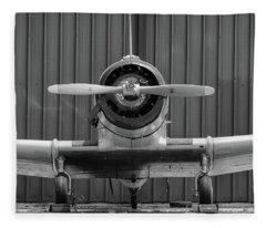 Yale Against A Hangar Door Fleece Blanket
