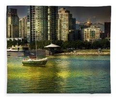 Yaletown Sunset Fleece Blanket