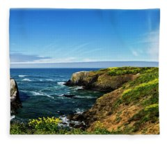 Yaquina Head Lighthouse Fleece Blanket