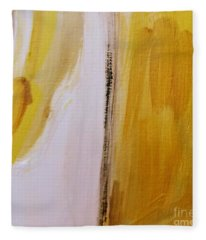 Yellow #5 Fleece Blanket
