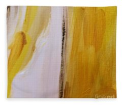 Yellow #5 Fleece Blanket
