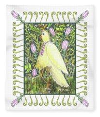 Yellow Bird With Tie Fleece Blanket