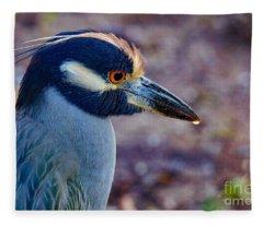 Yellow-crowned Night Heron Fleece Blanket