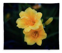 Yellow Duo Fleece Blanket