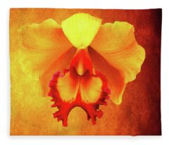 Yellow Exotic Fleece Blanket