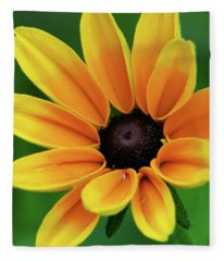 Yellow Flower Black Eyed Susan Fleece Blanket