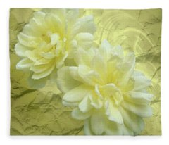 Yellow Foil Fleece Blanket
