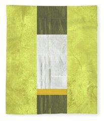 Yellow Mist II Fleece Blanket