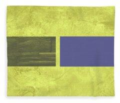 Yellow Mist IIi Fleece Blanket