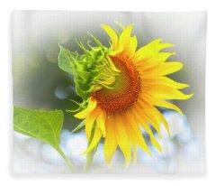 Yellow Petals Of Sunshine Fleece Blanket