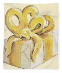 Yellow Present Fleece Blanket