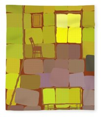Yellow Room Fleece Blanket