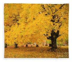 Yellow Show Fleece Blanket