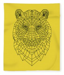 Yellow Tiger Fleece Blanket