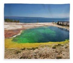 Yellowstone Lake Fleece Blanket