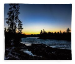 Yellowstone River Fleece Blanket