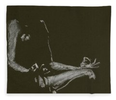 Yoga Position Fleece Blanket