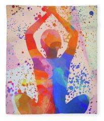 Yoga Stretch Fleece Blanket