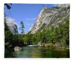 Yosemite Mirror Lake, Lower Pool Fleece Blanket