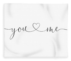 You And Me Black And White Fleece Blanket