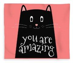 You Are Amazing - Baby Room Nursery Art Poster Print Fleece Blanket