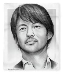 Yutaka Takenouchi Fleece Blanket