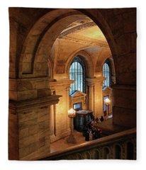 Library Overlook Fleece Blanket