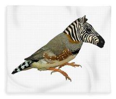 Z Is For Zebra Finch Thats Not A Zebra Finch Fleece Blanket
