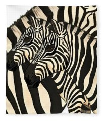 Z Is For Zebras Fleece Blanket