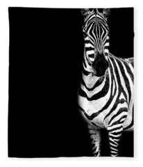 Zebra Drama Fleece Blanket