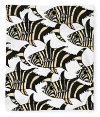Zebra Fish 4 Fleece Blanket