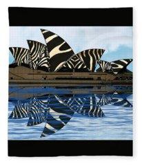 Zebra Opera House 4 Fleece Blanket