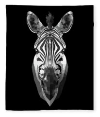 Zebra's Face Fleece Blanket