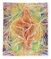 Zen Energy And Electricity In Motion Abstract Digital Mixed Media Artwork By Omaste Witkowski Fleece Blanket