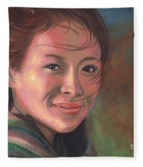 Zhang Ziyi Fleece Blanket
