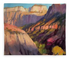 Zion's West Canyon Fleece Blanket