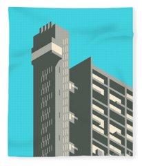 Brutalist Architecture Fleece Blankets