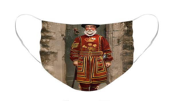 Beefeater Yeoman Guard Single 2D Card Party Half Face Mask
