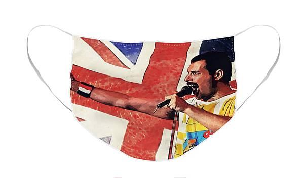 Renfkbgf Freddie Mercury Queen Band Nahtloser staubdichter Bandana-Gesichtsschutz mit wiederverwendbarem Schal