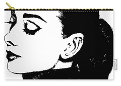 # 4 Audrey Hepburn Portrait. Carry-all Pouch by Alan Armstrong