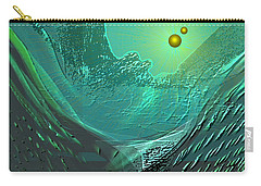 577 -  Ocean World Crystal Green.. Carry-all Pouch