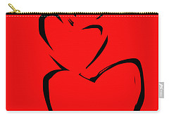 A Stack Of Hearts Carry-all Pouch by Go Van Kampen