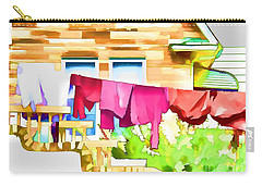 A Summer's Day - Digital Art Carry-all Pouch by Robyn King