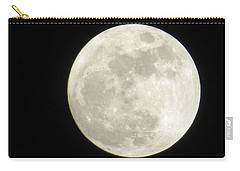Carry-all Pouch featuring the photograph  A Winter'sfullmoon Over Ga by Aaron Martens