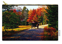 Carry-all Pouch featuring the photograph  Acadia National Park Carriage Trail Fall  by Tom Jelen