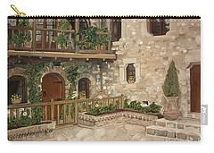 Greek Courtyard - Agiou Stefanou Monastery -balcony Carry-all Pouch