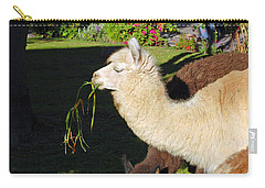 Carry-all Pouch featuring the digital art  Alpacas by Eva Kaufman
