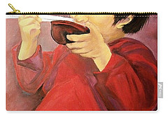 Carry-all Pouch featuring the painting  Asian  Doll by Sharon Duguay